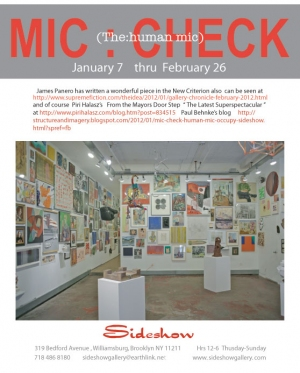 MIC:CHECK Sideshow Gallery's 12th annual extravaganza