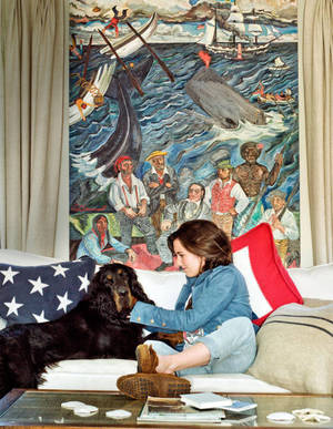 Sasha Chermayeff Painting featured in Town and Country magazine- Robert F. Kennedy, Junior home