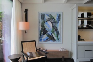 78 of Sasha's Works on Paper will be in 71 of the villas of the brand new Phuket Thailand Rosewood Hotel